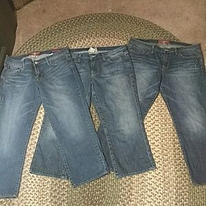 3 pairs of Lucky Capris